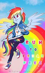 Run to break free wallpaper