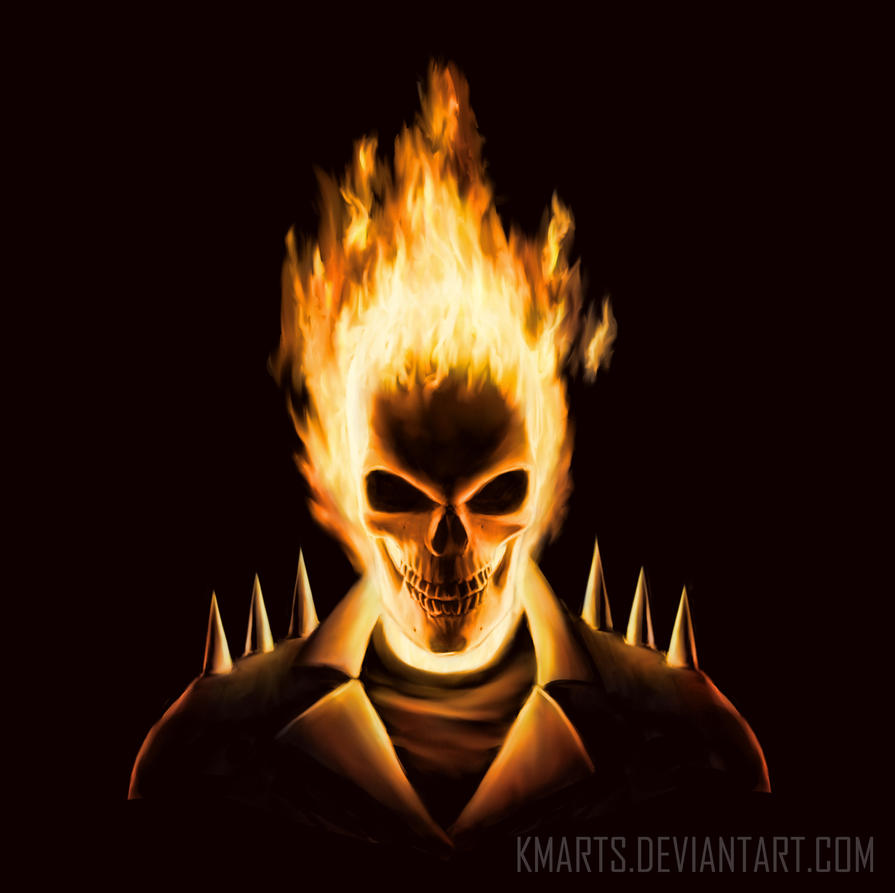 GhostRider by Bohy on DeviantArt  |Ghost Rider Digital Painting Photoshop