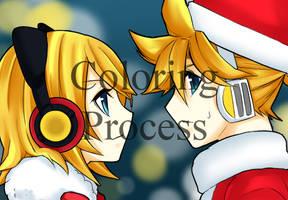 -Speedpaint- Rin and Len by Swanamii