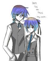 Doodle of Ren and Len by Swanamii