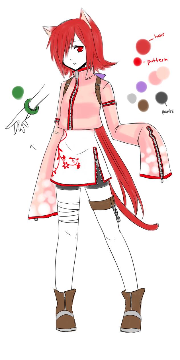 New OC -Reru Hanasaku- concept by Na-Nami