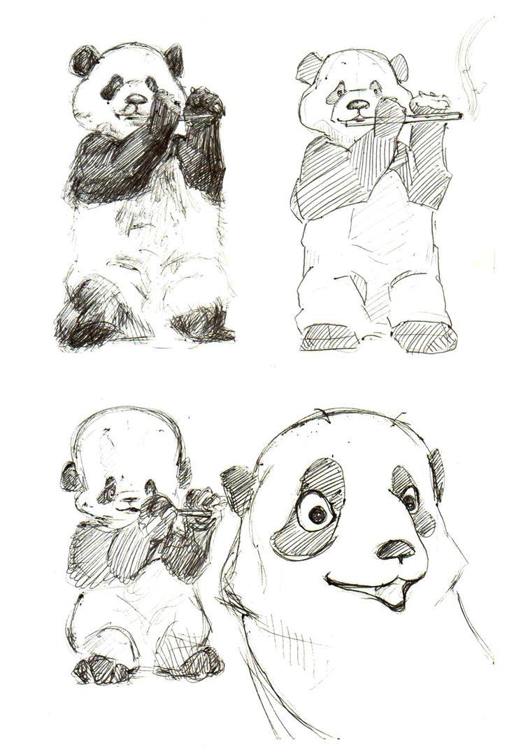 Panda pandaman by MsMac