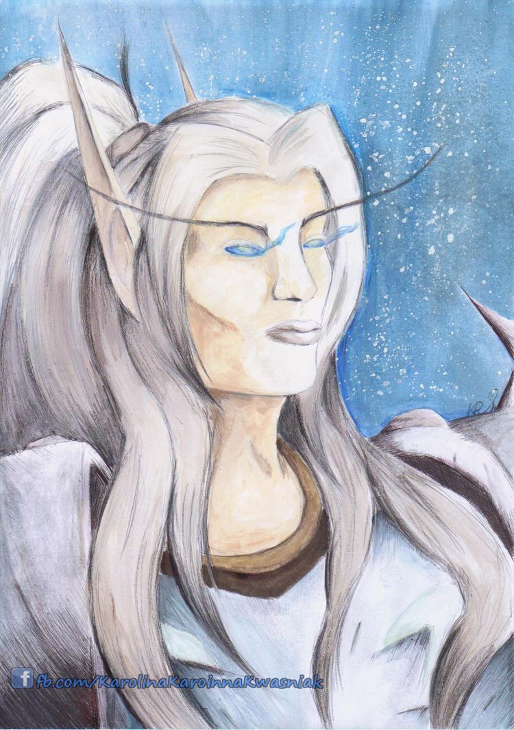 Blood Elf DK by Karoinna