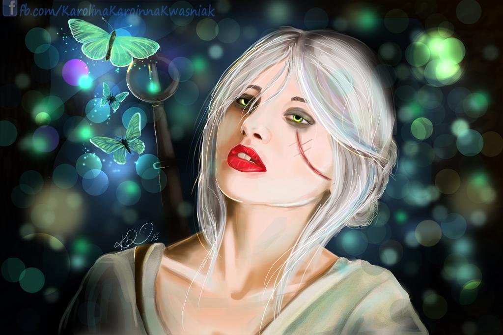 Karilla/Cirilla - selfportrait as Ciri by Karoinna