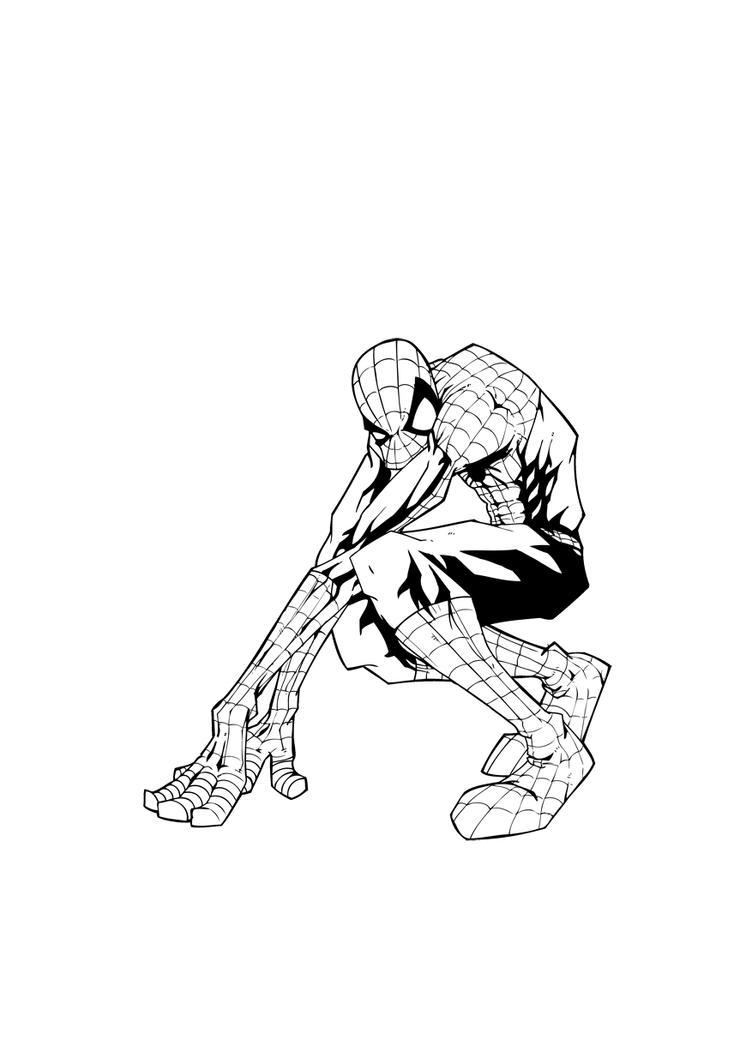 spider-man black and white by yoanndurand on DeviantArt
