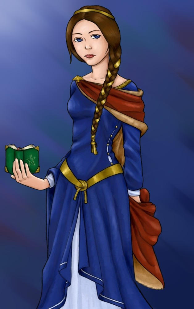 Rowena Ravenclaw with book by ucchan