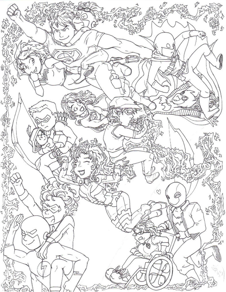 DC. thing I need to color.... by BobsCookie on DeviantArt