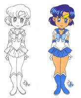 Sailor Mercury (request) by BobsCookie
