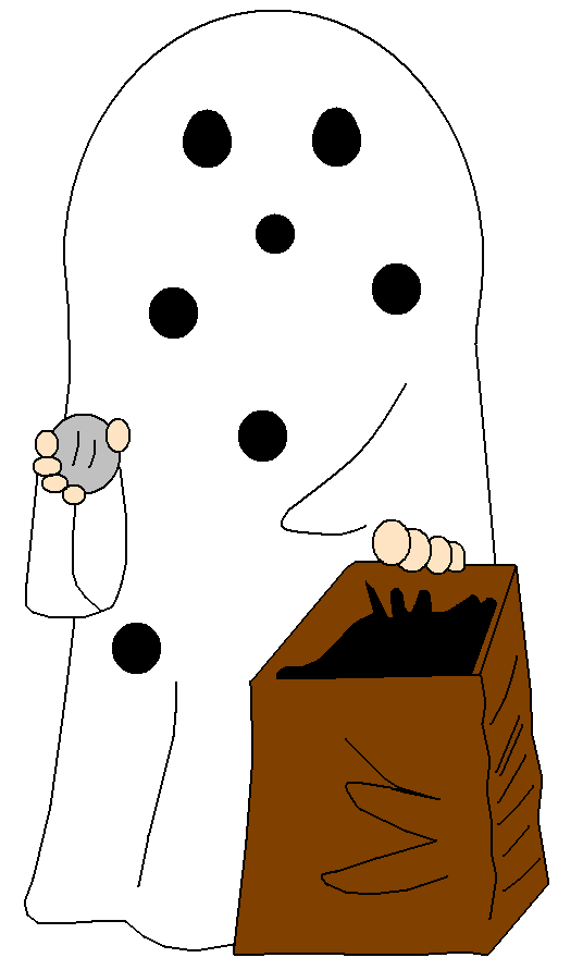 Ghost cartoon video