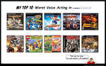 My Top 10 Worst Voice Acting Video Games