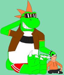Cool Big Dino and his boy