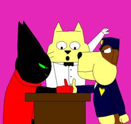Mao Mao and Doggo on Thumb War