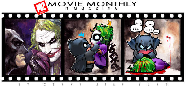 batman and joker by kokecit