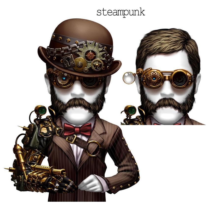 free deck poker-male steampunk by kokecit