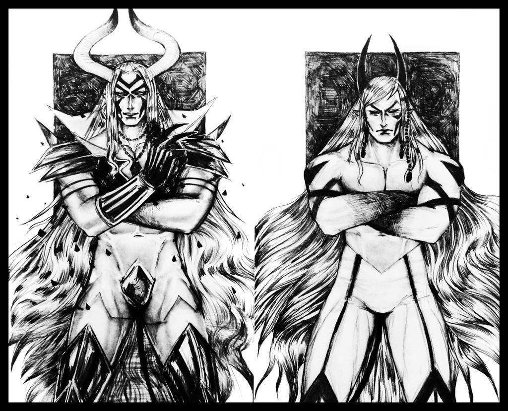 Adramelech D. E. Mandrake + Dante Mandrake Diptych by Dark-SpectrumDS