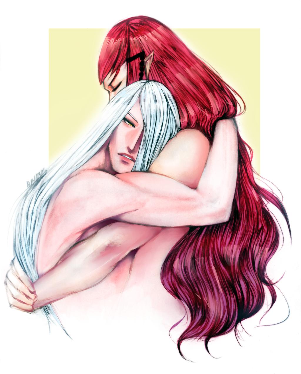 Dante and Noir Embrace by Dark-SpectrumDS