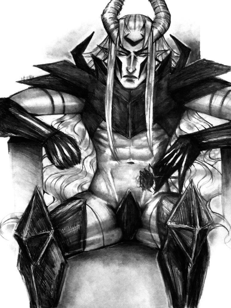 Adem Mandrake Sitting by Dark-SpectrumDS