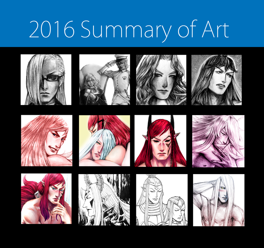 2016 Summary of Art by Dark-SpectrumDS