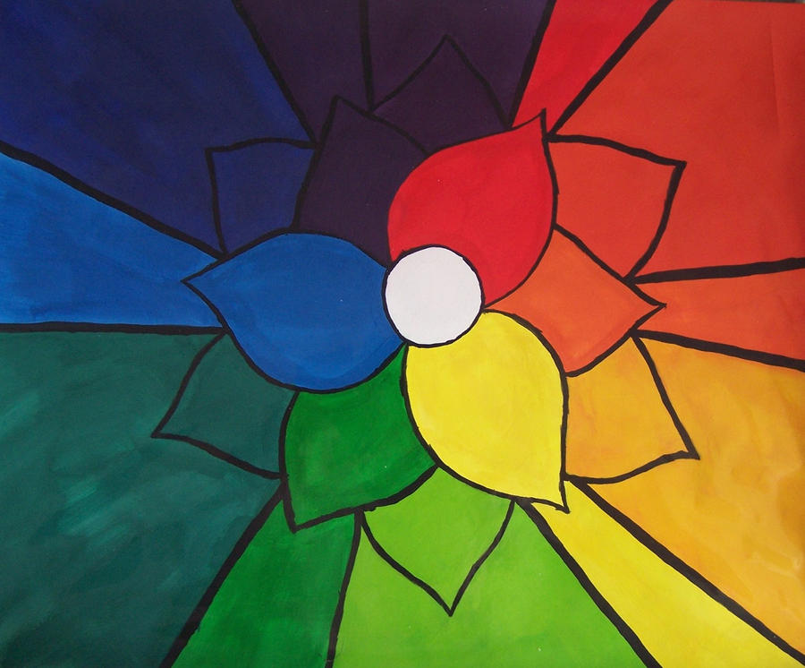 Color Wheel In The Shape Of A Flower By MissBeastie