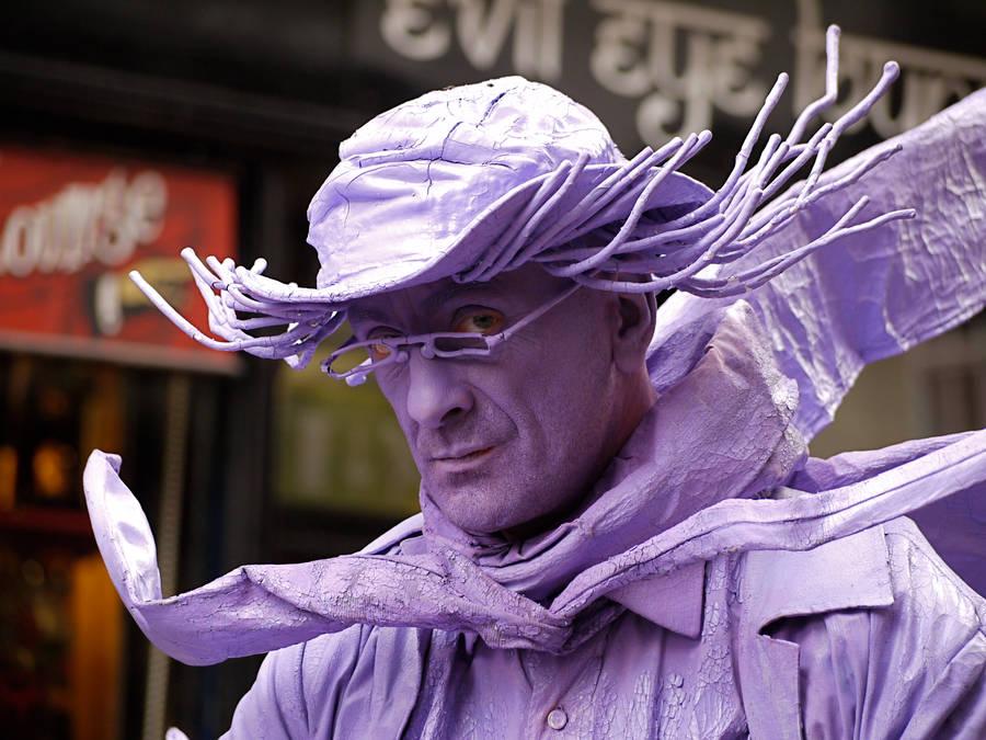 Purple man by iyonix
