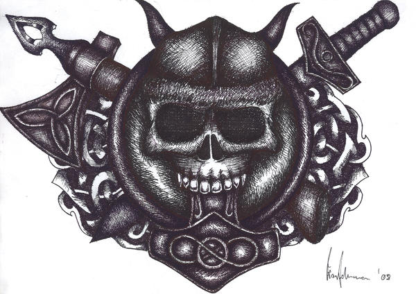 Viking Tattoo Sketch by ~Frostd3mon on deviantART