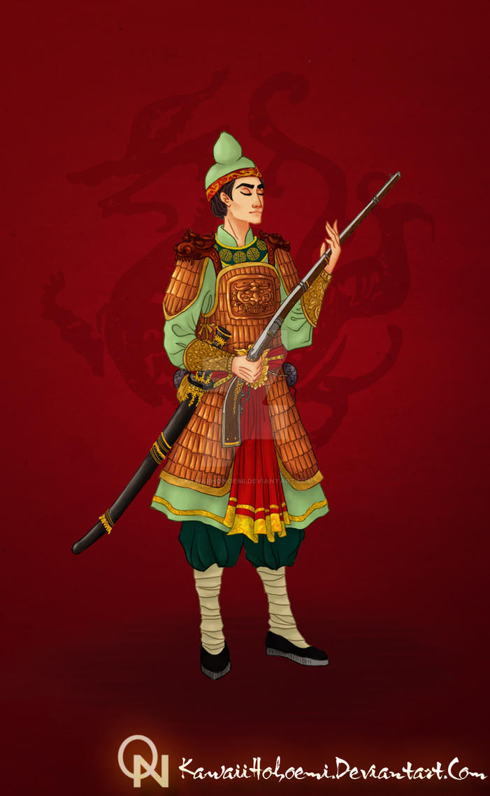 Nguyen Lord Soldier - Ancient Vietnam by kawaiihohoemi