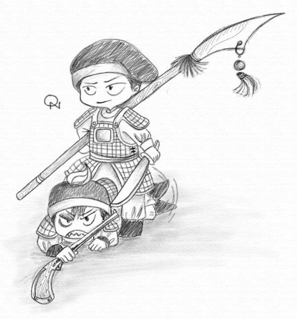 Trinh vs Nguyen chibi by kawaiihohoemi