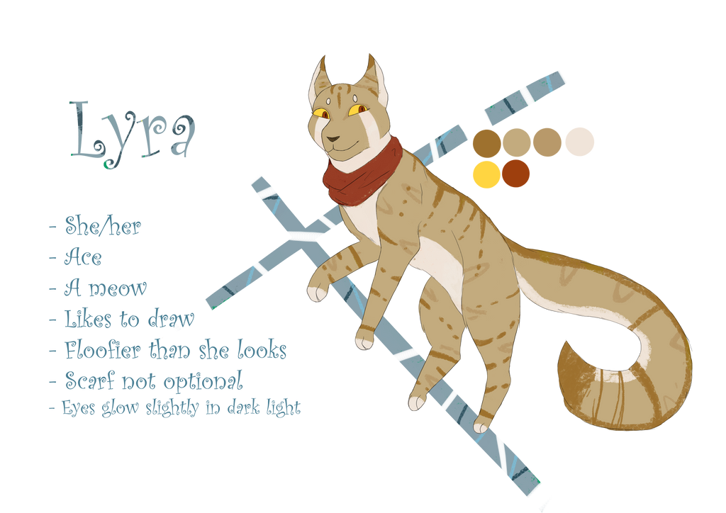New Sona Ref Sheet - Lyra by Bluesunrisecat