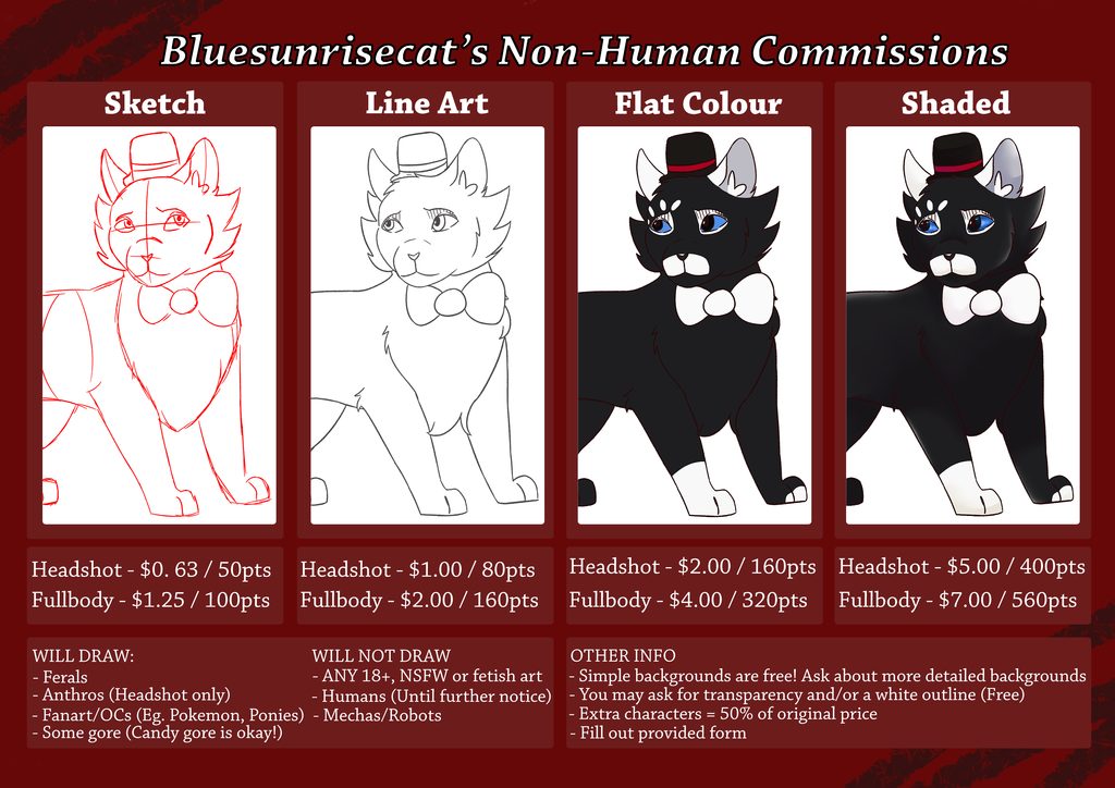 Bluesunrisecat / Lyra Commission Information by Bluesunrisecat