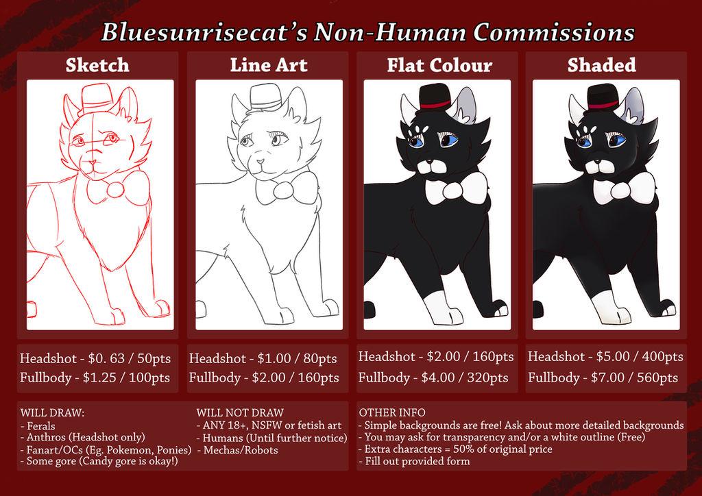 Bluesunrisecat / Lyra Commission Information