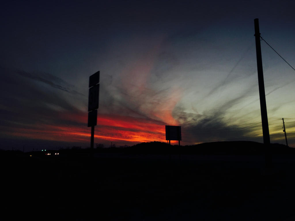 Highway Sunset #2 by superSeether