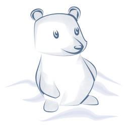 A little animal (polar bear)