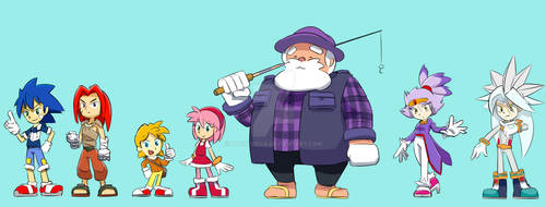 Sonic Characters as Humans