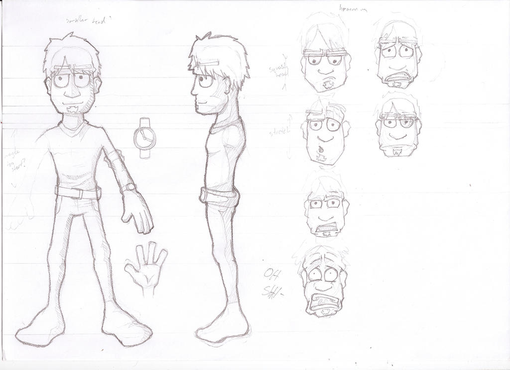 This is a picture of Adorable Character Template Drawing