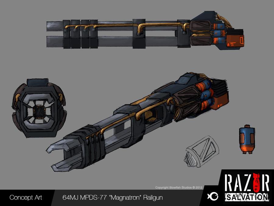 Weapon - 'Magnatron' Railgun by HozZAaH