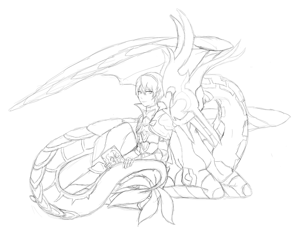 FE Fates - Leon and Kamui Dragon Sketch by LuzrovRulay on DeviantArt