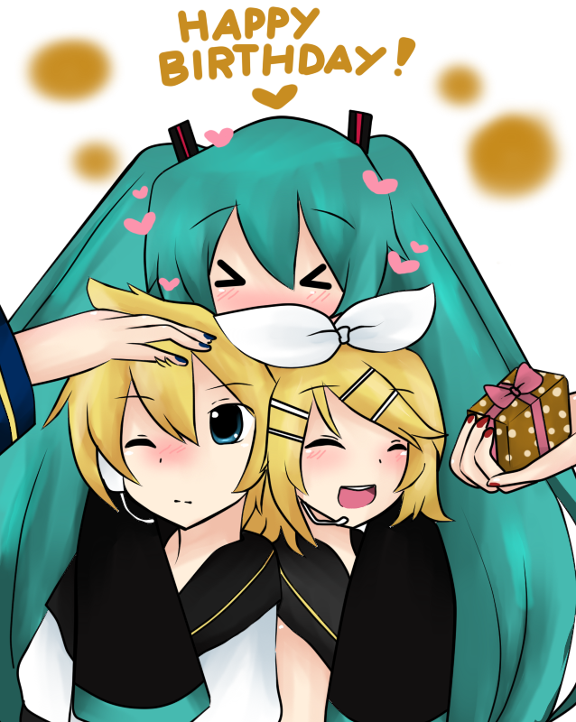 Happy Birthday Rin and Len! by OrangeCornPuff