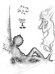 October Silhou 1 - Wings by MiaEikuso