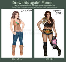 Draw This Again Meme: Mickie James by Fefe1414