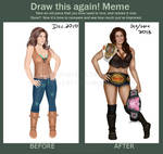 Draw This Again Meme: Mickie James