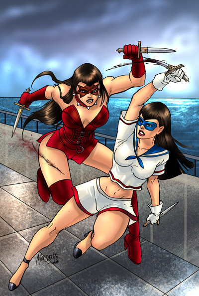 PIN UP GIRL vs TEARDOWN by gammaknight
