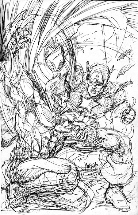 Cap vs Bats by gammaknight
