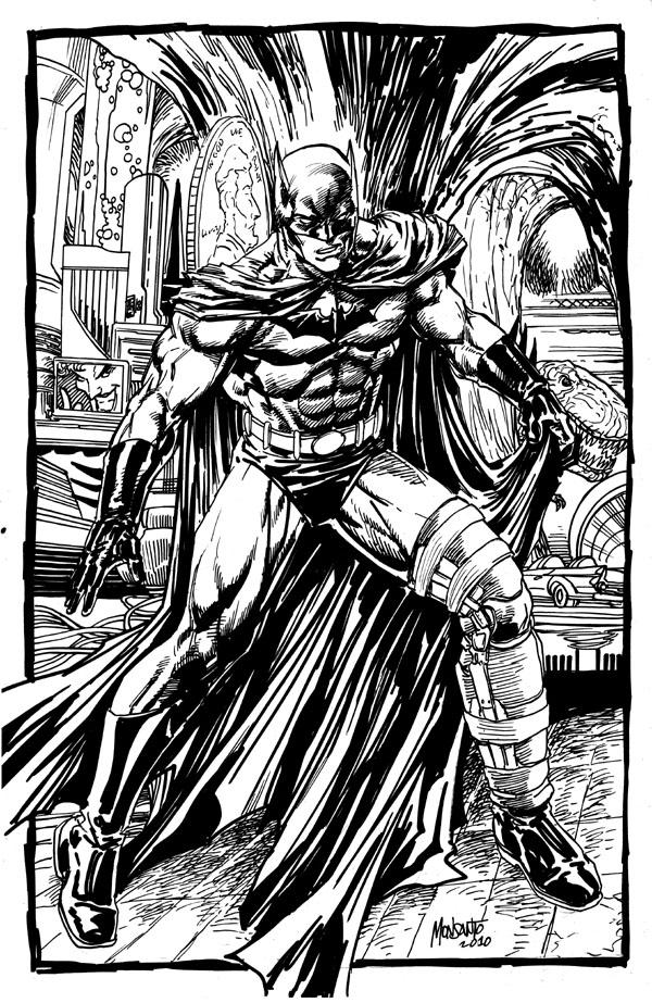 Batman chillax inked by gammaknight