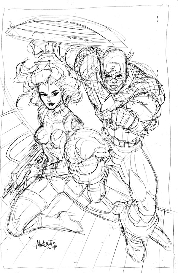Cap and Agent 13 WIP by gammaknight