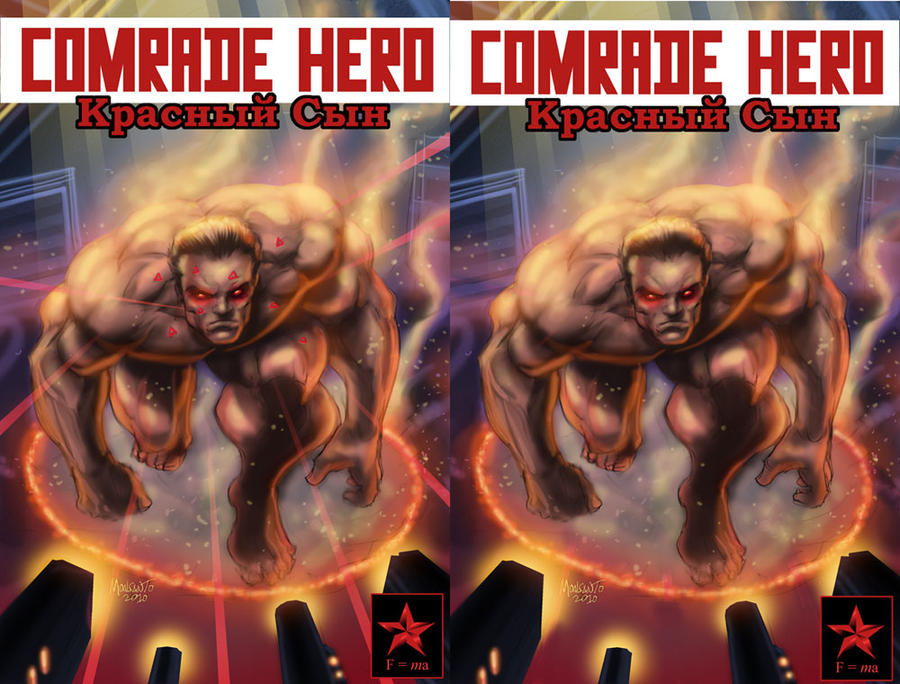 COMRADE HERO cvr with logo by gammaknight