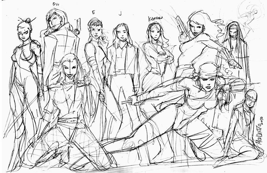Daredevils ladies by gammaknight