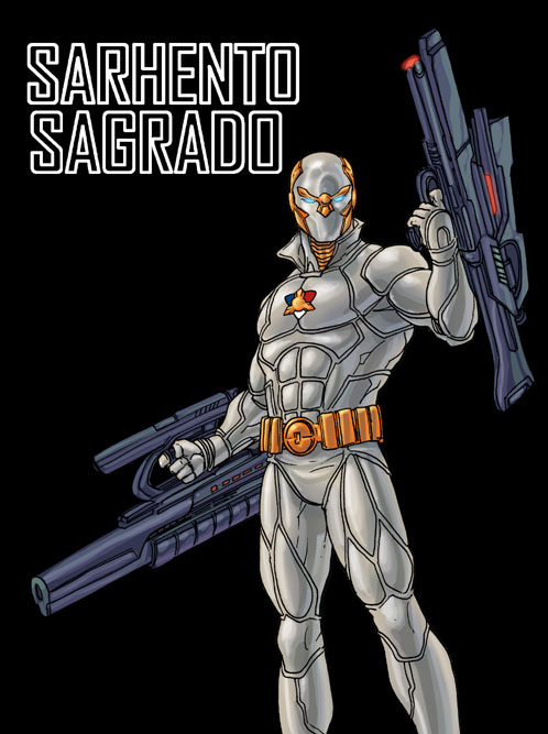 Sarhento Sagrado colored art by gammaknight