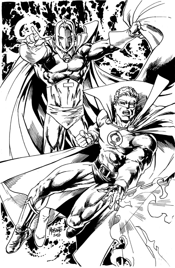 Dr FATE and Green Lantern by gammaknight