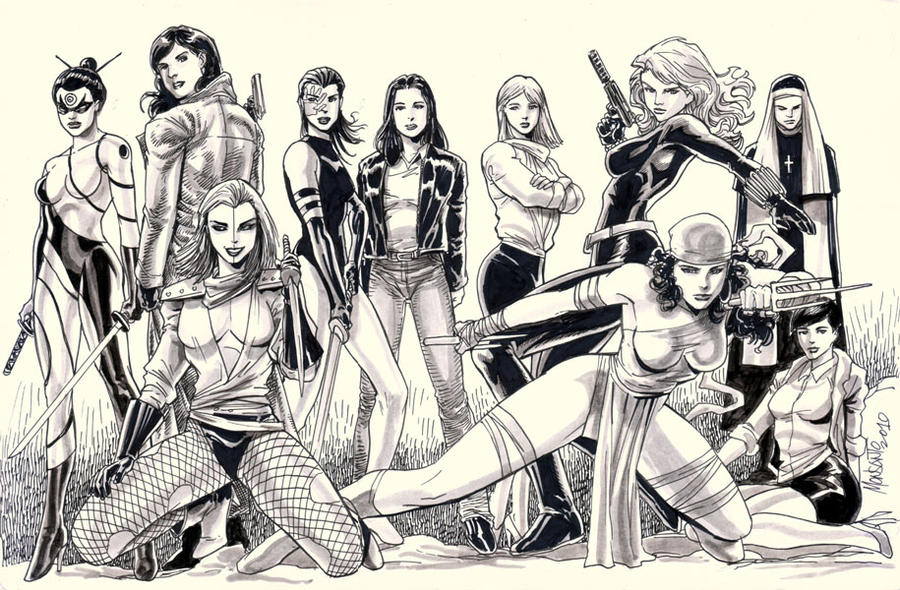Daredevil's women by gammaknight
