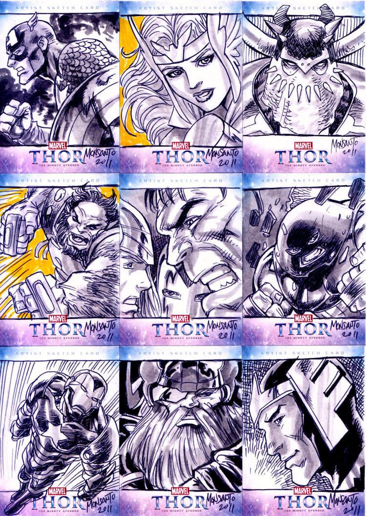THOR sketchcards B by gammaknight